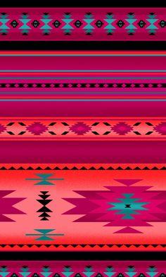 Southwest Tucson Pink Indian Blanket Stripe Fabric by Elizabeths Studio BTY #cricut