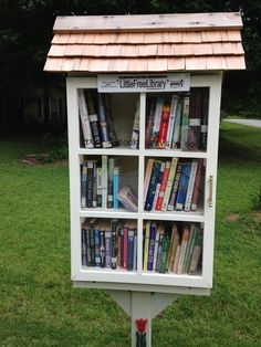 Shelley Stahl. Macon, GA. I grew up loving books and miniature things so when I first saw a Little Free Library I was hooked! I asked my daddy to build me one for my birthday and he installed it in my neighborhood so we can encourage the reading habit for everyone who passes by our Little Free Library. We have had several compliments and even one family who asked if they could help us stock the children's shelf. I love my library!