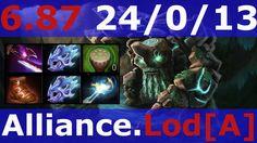 Dota 2 patch 6.87 Tiny Alliance Lod[A] KDA - 24/0/13 Mid game