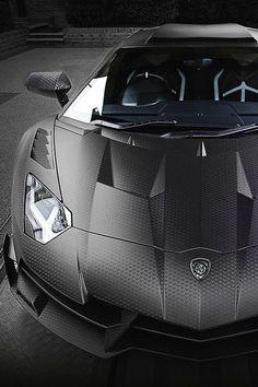 #Lamborghini Aventador LP 750-4 SV Stealth Carbon