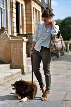 A pair of Gap pants as featured on the blog Thank Fifi.