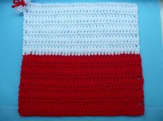 Flag of Poland from Karla B. To learn more about our organization go to www.knit-a-square.com To meet our members and see more of our knitting and crochet go to http://forum.knit-a-square.com/