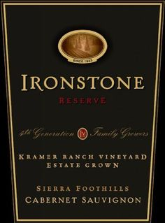 2006 Ironstone Reserve Kramer Ranch Vineyard Sierra Foothills Estate Grown Cabernet Sauvignon 750 mL ** Continue to the product at the image link.  This link participates in Amazon Service LLC Associates Program, a program designed to let participant earn advertising fees by advertising and linking to Amazon.com.
