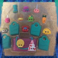Shopkins foodie earrings made from re purposed toys can use her weird