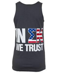 Sigma Kappa America Tank by Adam Block Design | Custom Greek Apparel & Sorority Clothes | www.adamblockdesign.com | orders@adamblockdesign.com