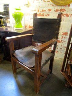Antique Spanish Colonial Arm Chair — Sarah Cyrus Home