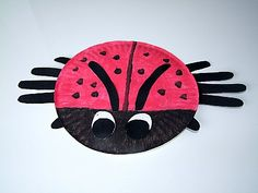 Cute paper plate ladybug with hands used as legs... could also use the small paper plates and have pipe cleaner legs.