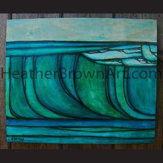 The Surf Art of Heather Brown: Heather Brown Original Surf Art #1007
