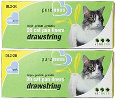 Large Drawstring ValuPak Cat Pan Liners 20 Count Pack of 2 Total 40 -- Continue to the product at the image link.