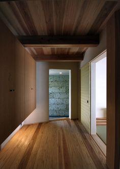 japanese residence, entrance, 玄関, 大谷石