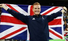 Final three: Olympic long jumper Greg Rutherford, pictured after getting bronze in Rio, has been announced in the final three stars to join this year's Strictly Come Dancing line-up
