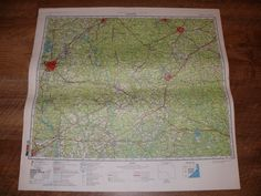Authentic Soviet USSR Military Topographic Map Charlotte North Carolina USA | eBay