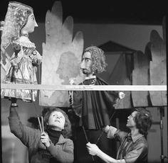 """Carl Schröder – """"Das Puppenspiel vom Dr. Faust,"""" Städtischen Puppentheaters Karl-Marx-Stadt, 1978"""