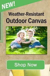 UV protected weatherproof outdoor canvas prints available