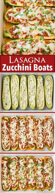 Amazing Lasagna Zucchini Boats