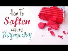 Come Ammorbidire il fimo vecchio/duro - How to soften old/hard poly clay - YouTube