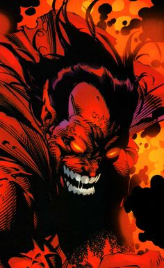 Mephisto by Michael Turner Comic Book Villains, Marvel Villains, Marvel Characters, Comic Book Artists, Comic Books Art, Comic Art, Dc Comics Art, Marvel Comics, Michael Turner