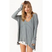 """<p class=""""product-desc-body"""">Lounge around without losing your style in Free People's Sunset Park Top. The drippy thermal comes in a textured stretch fabric with seamed detailing, a swing silhouette and subtle Hi-Lo hem. Perfect for post workout wear or a lazy Sunday around the house. </p><!---  fit guide ---></p><ul class=""""product-desc-list""""><li>Made in Vietnam</li><li>Hand Wash Cold</li><li>95% Rayon 5% Spandex</li></ul><p class=""""product-desc-head"""">Fit Guide:</p><ul…"""