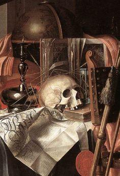 Franciscus Gysbrechts o  Gijsbrechts (Bélgica, 1649-1676). Vanitas (detalle). Memento Mori Art, Vanitas Paintings, Vanitas Vanitatum, Don't Fear The Reaper, Dance Of Death, Baroque Art, Momento Mori, Cornelius, Life Inspiration