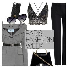 """Pack and Go: Paris Fashion Week"" by megan-vanwinkle ❤ liked on Polyvore featuring Prada, Joseph, Gucci, La Perla, polyvoreeditorial, parisfashionweek and Packandgo"