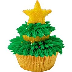 Two-Tiered Christmas Tree Cupcakes