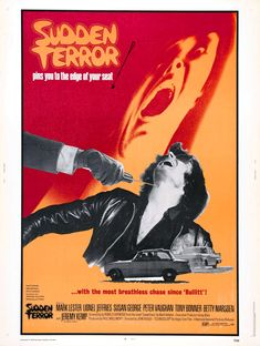 "Sudden Terror (1970) ""Eyewitness"" (original title) Stars: Mark Lester, Lionel Jeffries, Susan George, Jeremy Kemp, Peter Vaughan, Peter Bowles, Tony Bonner ~  Director: John Hough"