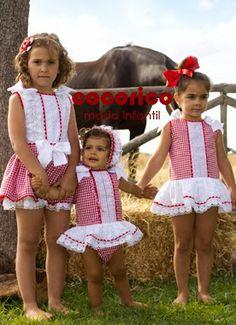 cocorico moda infantil: VICHY ROJO by NINI