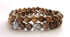 Meditation Bracelet ,Men's Mala Bracelet,Men's Yoga Bracelet, Mala Beads Bracelet, Vegan,Om Bracelet,Om Jewelry, Buddha Jewelry, Boho Chic,