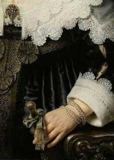 Rembrandt. Retrato de mujer(detalle).1639