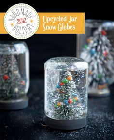 DIY snow globes via The Broken Plow. Gracie would LOVE to do these. Would need to set aside afternoon to work on them.