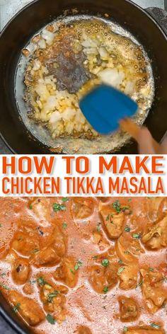 Chicken Tikka Masala Rezept, Chicken Tikki Masala Recipe, Chicken Tiki Masala, Chicken Butter Masala, Best Chicken Tikka Masala Recipe, Indian Food Recipes, Healthy Recipes, Cooking Recipes, African Recipes