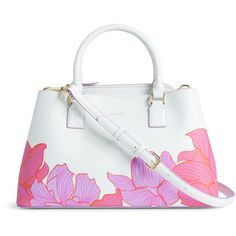 Vera Bradley Emma Satchel in Paradise Floral Lilac (5.751.470 VND) ❤ liked on Polyvore featuring bags, handbags, paradise floral lilac, leather shoulder bag, hand bags, man shoulder bag, leather man bag and satchel purse