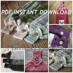 Kitchen Towel Top Crochet Pattern, Instant Download PDF Pattern, Hanging Kitchen Towel Pattern, Towel Topper Pattern,Hannahs Homestead2