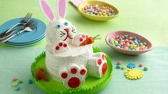 How to make a Easter Bunny Rabbit Cake - Baking up this impressive bunny is easier than you think! bettycrocker.com