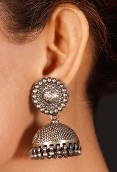 Silver Tribal jhumka - Tribal Regalia - Jewelry | Tjori