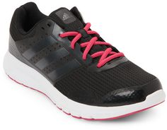 best service 1d049 7bec0 adidas Black   Pink Duramo 7 Running Sneakers - ShopStyle Athletic