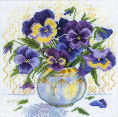 Shop online for Bouquet of Pansies Cross Stitch Kit at sewandso.co.uk. Browse our great range of cross stitch and needlecraft products, in stock, with great prices and fast delivery.