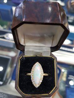Diamond Dress, Edwardian Jewelry, Dress Rings, Gold Set, Diamond Cuts, Heart Ring, Period, Opal, Jewels