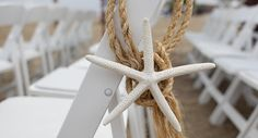 Simple starfish accents - great for a beach wedding!
