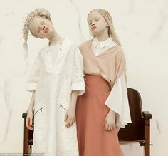 Lara and Mara Bawar, 11, from, São Paulo, Brazil were born with albinism. They have worked with Nike and Bazaar Kids, along with their 13-year-old sister Sheila. Photographer Vinicius Terranova worked with the models as part of his photo series