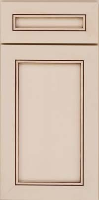 KraftMaid Cabinets -Square Recessed Panel - Veneer (AC1M) Maple in Mushroom w/Cocoa Glaze from waybuild