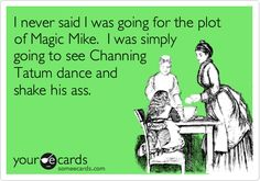 I never said I was going for the plot of Magic Mike. I was simply going to see Channing Tatum dance and shake his ass.