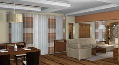 Szerkezetkész családi ház lakberendezési látványtervei Divider, Living Room, Interior Design, Furniture, Home Decor, Interiors, Nest Design, Decoration Home, Home Interior Design