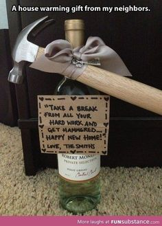 It's the thought that counts, so why not give your new neighbors small gift with a creative twist.