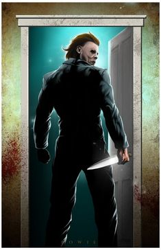 Michael Myers by Damon Bowie Michael Myers, Horror Icons, Horror Films, Horror Art, Slasher Movies, Horror Movie Characters, Horror Villains, Halloween Film, Halloween Horror
