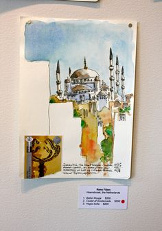 Urban Sketchers: Urban Sketchers at the Ackland opening reception