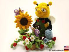 Häkelanleitungen - Fleißige Biene Häkelanleitung - ein Designerstück von Dinegurumi bei DaWanda