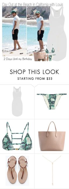 """""""2 Days Until my Birthday~ Day Out at the Beach in California with Louis"""" by elise-22 ❤ liked on Polyvore featuring Étoile Isabel Marant, ViX, Rochas, Zara, Loren Stewart and Retrò"""