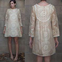 Amazingly beautiful vintage lace dress from Ramona West.