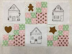 Gingerbread Village Block of the Month 2019 - free for a month, download it while you can!
